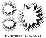 blash splash template in three... | Shutterstock .eps vector #674253715