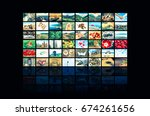 screens forming a big... | Shutterstock . vector #674261656
