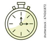 chronometer timer isolated icon