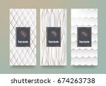 vector set packaging templates... | Shutterstock .eps vector #674263738