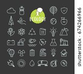 different ecology icons vector... | Shutterstock .eps vector #674266966
