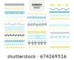 borders set | Shutterstock .eps vector #674269516