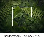 top view of creative layout... | Shutterstock . vector #674270716