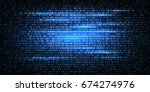 abstract technology binary code ... | Shutterstock .eps vector #674274976