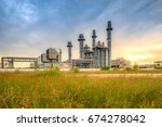 petrochemical industrial plant... | Shutterstock . vector #674278042