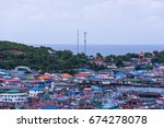 the port on sa mae san island... | Shutterstock . vector #674278078
