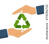 eco friendly. save nature.... | Shutterstock .eps vector #674296732