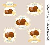 abstract vector illustration... | Shutterstock .eps vector #674296906