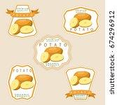 abstract vector icon... | Shutterstock .eps vector #674296912