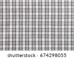 black and white tablecloth... | Shutterstock . vector #674298055