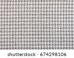 black and white tablecloth... | Shutterstock . vector #674298106