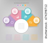 infographic template of...   Shutterstock .eps vector #674298712