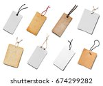 collection of  various price... | Shutterstock . vector #674299282