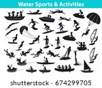 summer water beach sports ... | Shutterstock .eps vector #674299705