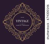 golden vector monogram.... | Shutterstock .eps vector #674300146
