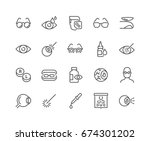 simple set of optometry related ... | Shutterstock .eps vector #674301202