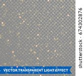 vector gold glitter particles... | Shutterstock .eps vector #674302876