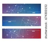 scientific set of modern vector ...   Shutterstock .eps vector #674303152