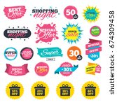 sale shopping banners. sale... | Shutterstock .eps vector #674309458