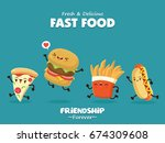 vintage food poster design with ... | Shutterstock .eps vector #674309608