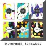 set of universal summer... | Shutterstock .eps vector #674312332