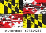 the flag of maryland | Shutterstock . vector #674314258