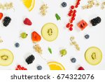fruit background | Shutterstock . vector #674322076
