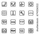 set of car interior details... | Shutterstock . vector #674326312
