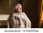 portrait of an old woman are... | Shutterstock . vector #674339506