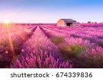 valensole  lavender fields in a ...   Shutterstock . vector #674339836