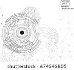 technology eye line pattern...   Shutterstock .eps vector #674343805