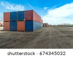 logistic concept   containers... | Shutterstock . vector #674345032