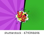 vector illustration of versus...   Shutterstock .eps vector #674346646