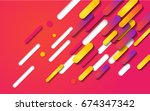 colorful modern style abstract... | Shutterstock .eps vector #674347342