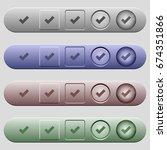 ok icons on rounded horizontal... | Shutterstock .eps vector #674351866