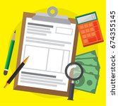 tax calculation   budget and... | Shutterstock .eps vector #674355145