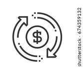 money flow icon  part of the... | Shutterstock .eps vector #674359132