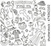 fashion illustration.italy... | Shutterstock .eps vector #674362102