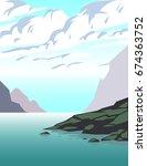 summer landscape background | Shutterstock .eps vector #674363752