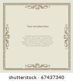 vintage frame | Shutterstock .eps vector #67437340