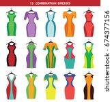 dress icon.vector fashion... | Shutterstock .eps vector #674377156