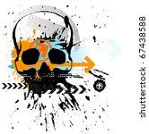 skull grunge background. raster ... | Shutterstock . vector #67438588