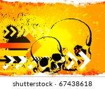 skull grunge background. raster ... | Shutterstock . vector #67438618