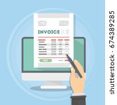 Invoice Concept Illustration.