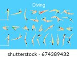 diving set illustration. | Shutterstock .eps vector #674389432