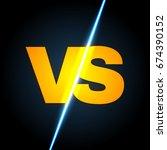 versus letters. shining... | Shutterstock .eps vector #674390152