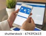 bangkok  thailand   july 10 ... | Shutterstock . vector #674392615