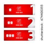 special voucher design  gift... | Shutterstock . vector #674400355