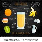 vector recipe for fruit... | Shutterstock .eps vector #674404492