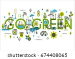 colorful vector illustration in ... | Shutterstock .eps vector #674408065